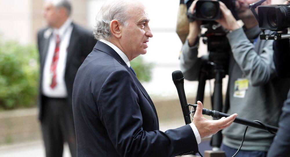 Spanish Minister Jorge Fernandez Diaz.