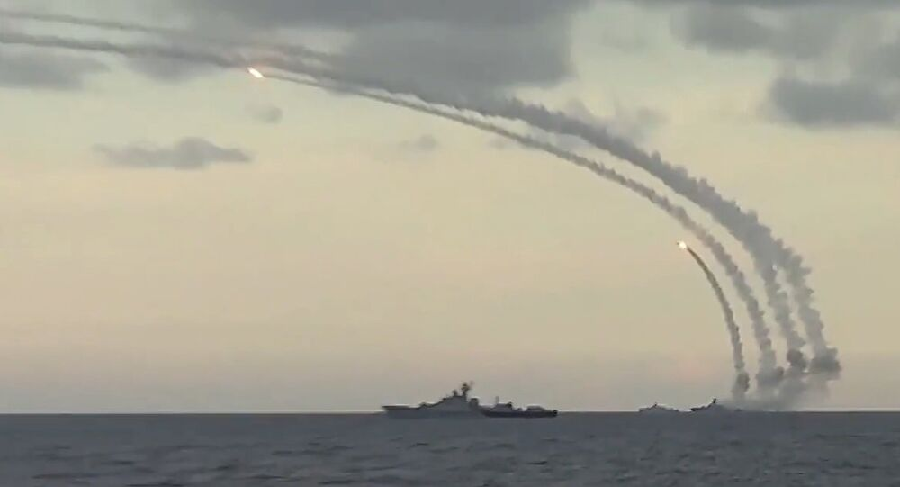 Syria struck 18th cruise missiles Caliber-NK to the terrorists From Caspian Sea