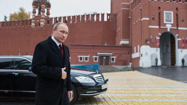 Russian President Vladimir Putin is seen here on Red Square, Moscow - Sputnik International