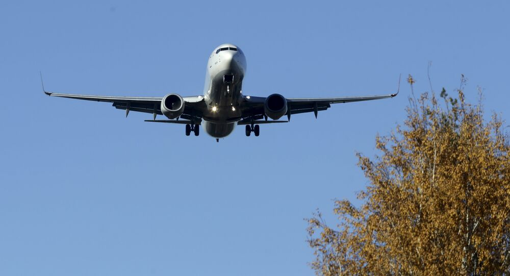 Turkish Airlines Airbus A330 aircraft approaches Riga International airport, Latvia, October 28, 2015
