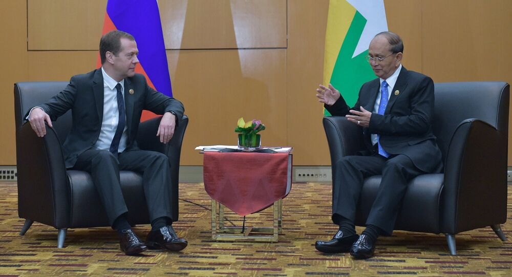 Russian Prime Minister Dmitry Medvedev takes part in the 10th East Asia Summit in Malaysia