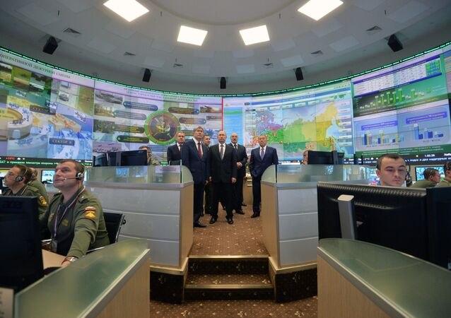 Heads of states - CSTO members visit National Defense Management Center, file photo.