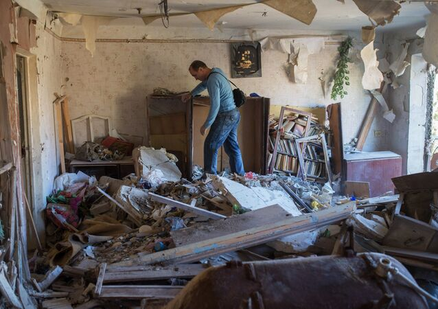 Aftermath of night shelling of Donetsk's Gorlovka by the Ukrainian military