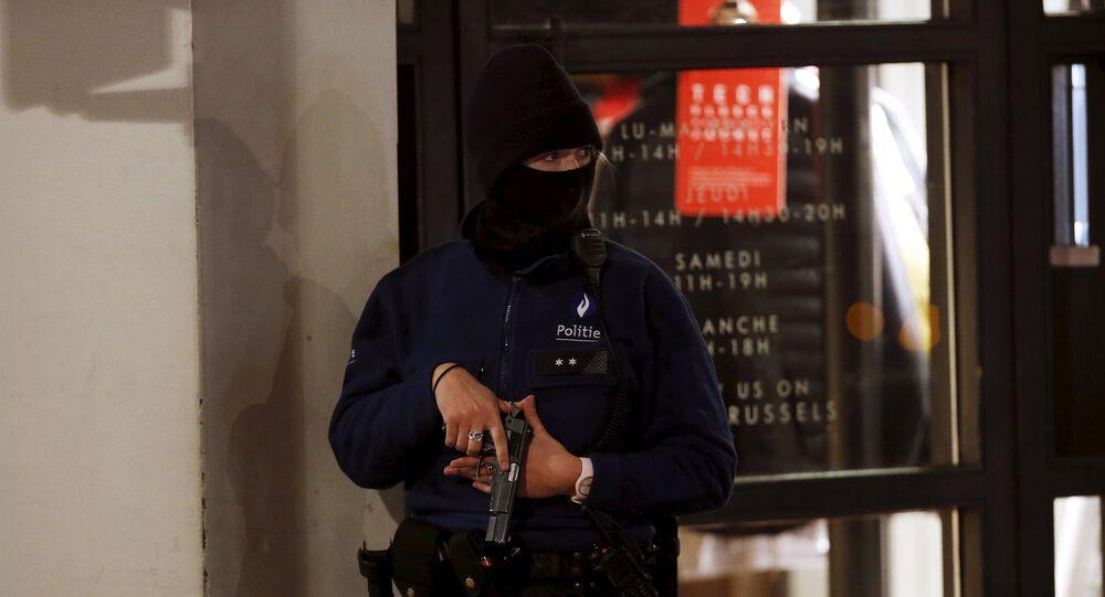 A Belgian police officer