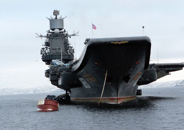 The Admiral Kuznetsov aircraft cruiser