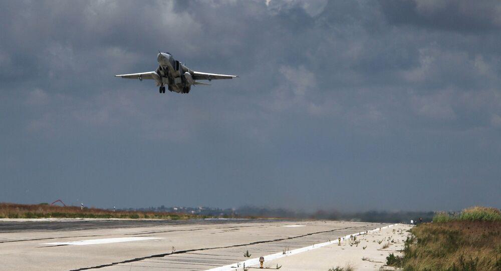 Russian aircraft at Latakia airport