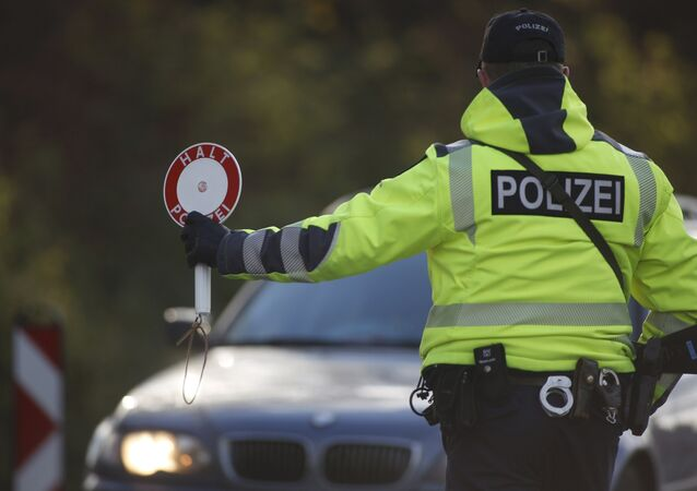 German police conducts a control at the German-Belgian border in Aachen, Germany, to check vehicles and verify the identity of travellers November 23, 2015 as security measures increased after recent deadly attacks in Paris