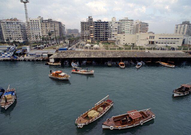 Port Said. View at Suez Canal