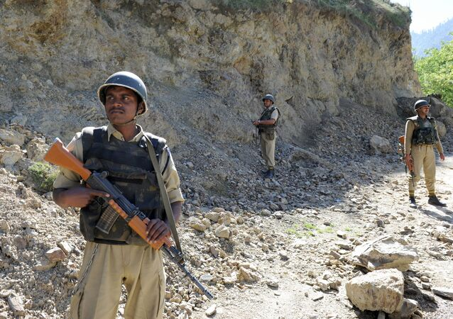 Indian security forces in Tangdhar. File photo