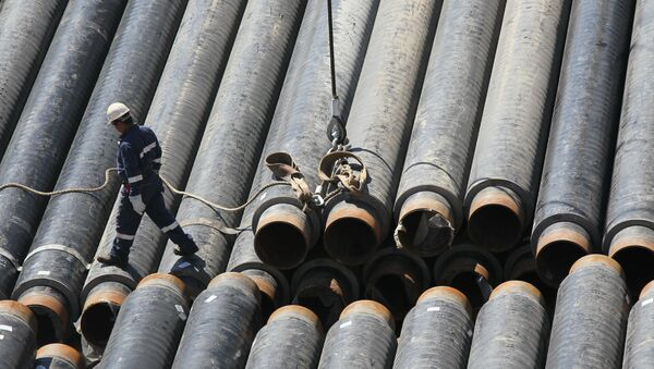 Building gas pipeline. File photo - Sputnik International