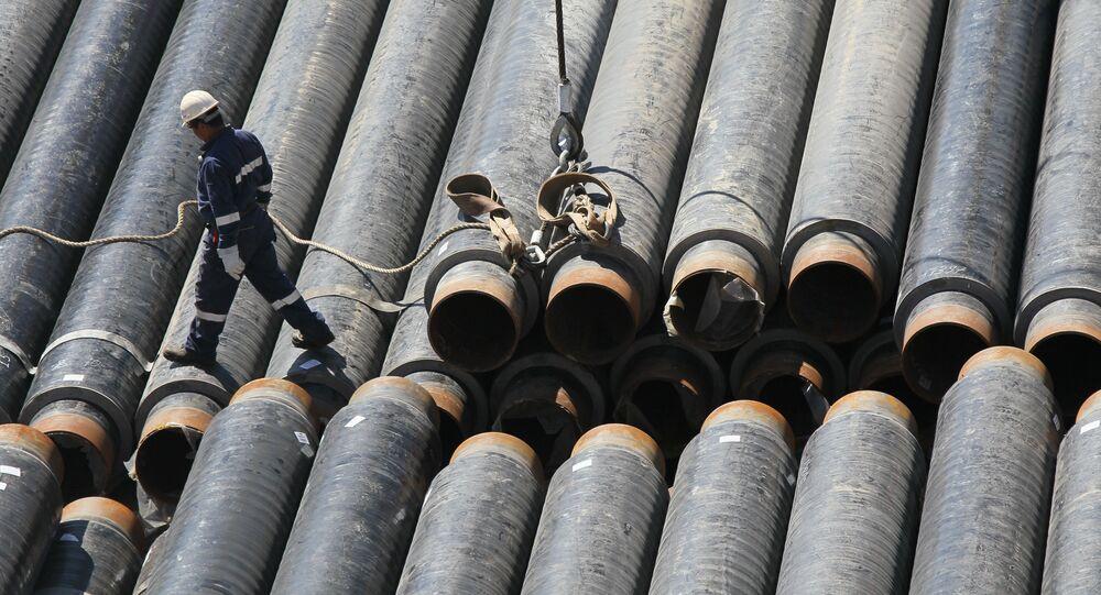 Building gas pipeline