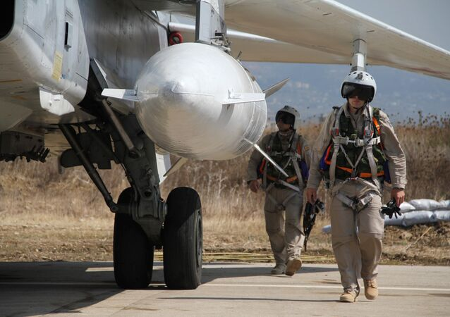 Russian military air group at Hmeymim airbase in Syria. file photo
