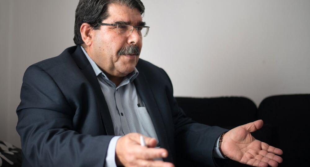 Salih Muslim, co-president of the Syrian Kurdish Democratic Union Party (PYD)