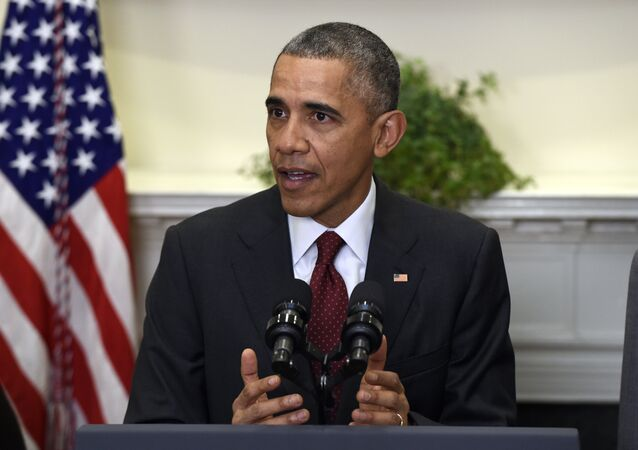 President Barack Obama speaks in the Roosevelt Room of the White House in Washington, Wednesday, Nov. 25, 2015, to brief the public on the nation's homeland security posture heading into the holiday season, following meeting with his national security team