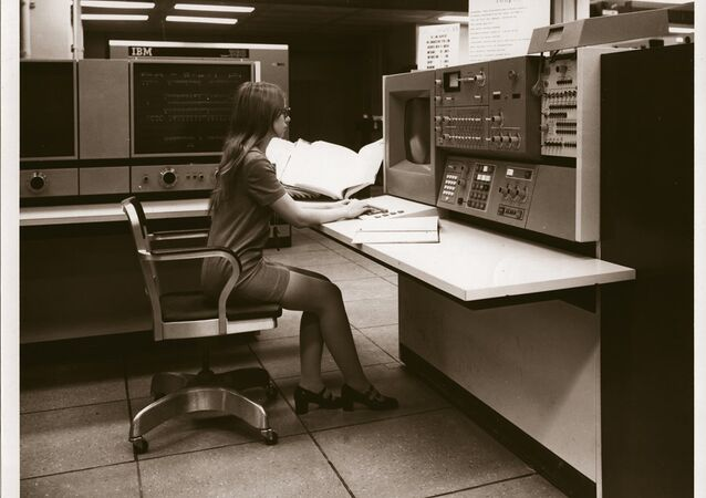 An NSA supercomputer in the 1970s (file photo)
