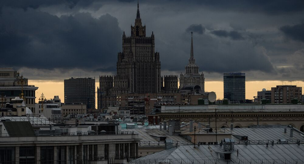 View of Russian Ministry of Foreign Affairs building