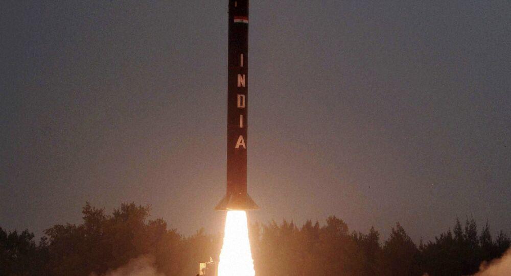 The Nuclear capable Agni-I strategic ballistic missile