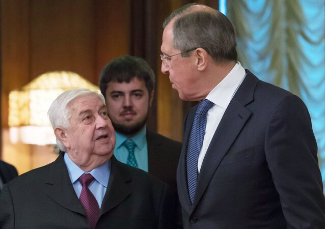 Foreign Minister Sergei Lavrov meets with Syrian counterpart, Walid al-Muallem