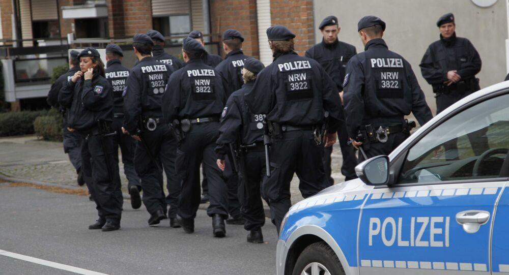 Police patrol in Alsdorf, near Aachen, western Germany, Tuesday, Nov. 17, 2015.