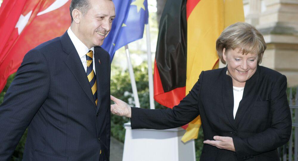 Angela Merkel and Tayyip Erdogan