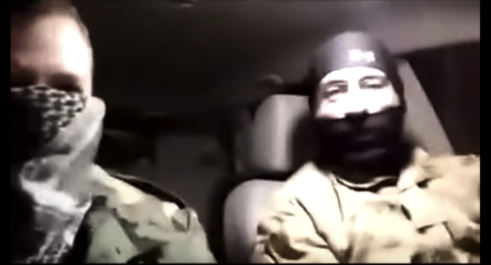 Screenshot from from video featuring suspects in the shooting of Black Lives Matter activists in Minneapolis.
