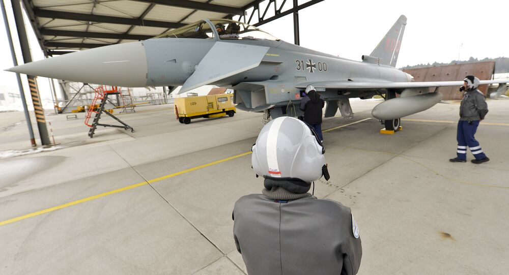 Eurofighter Typhoon of German airforce