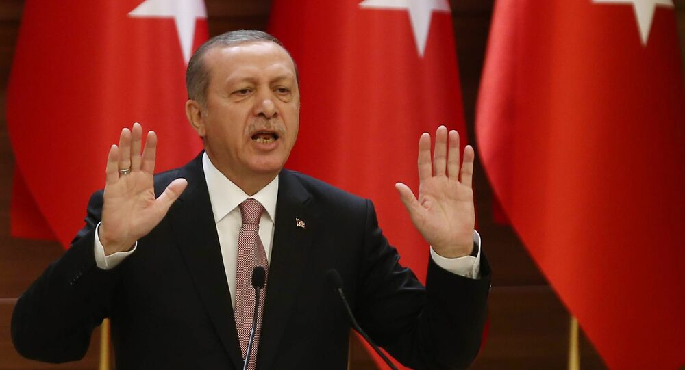 """The Kremlin seeks to break Syria into smaller pieces and """"fuel tension"""" in the Middle East, Turkish President Recep Tayyip Erdogan told his country's ambassadors during an annual meeting in Ankara, as reported by the Turkish newspaper Hurryiet."""