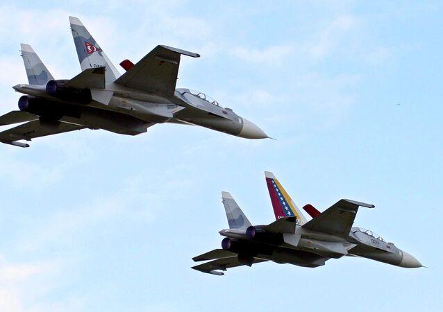Venezuela's two Sukhoi Su-30 fighter jets