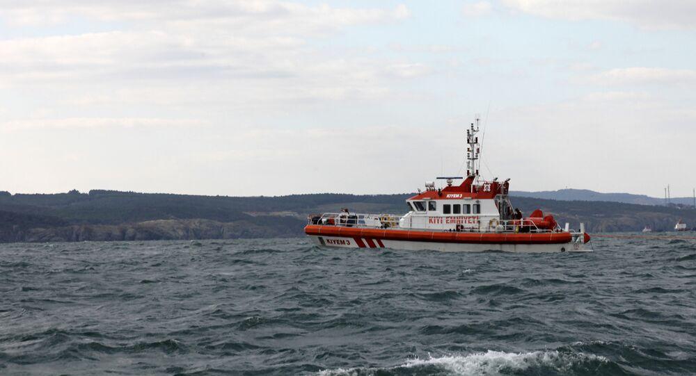 A Turkish coastguard boat in Bosphorus Strait. file photo