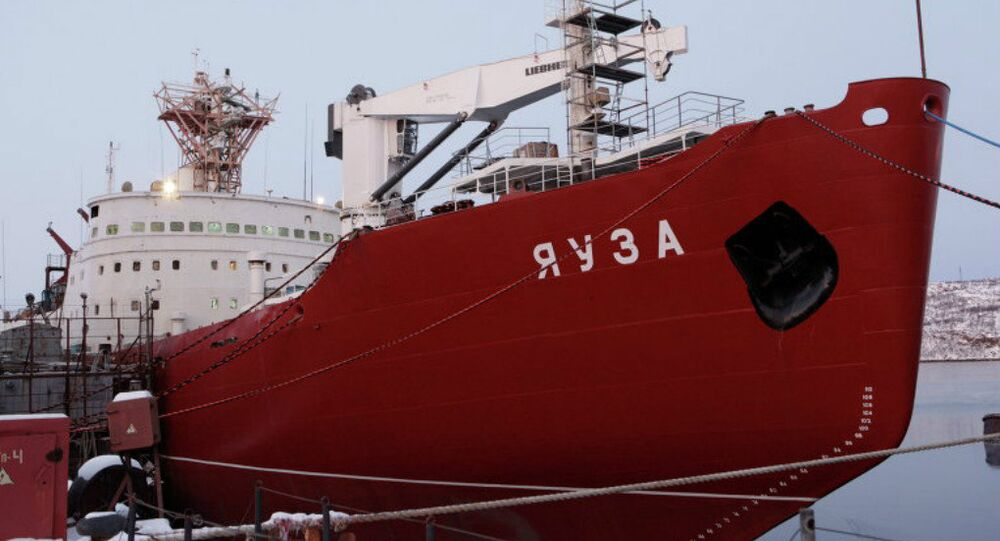 The Yauza, a transport ship recently obtained by the Russian Navy. File photo.