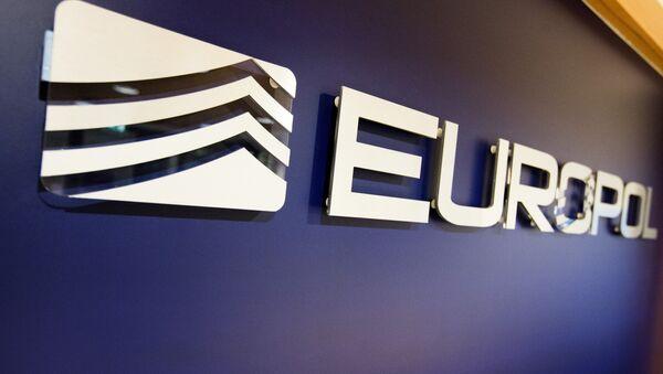 The Europol Logo in the Europol headquarters in The Hague, Netherlands, Tuesday, Nov. 24, 2015. - Sputnik International