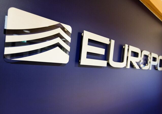The Europol Logo in the Europol headquarters in The Hague, Netherlands, Tuesday, Nov. 24, 2015.
