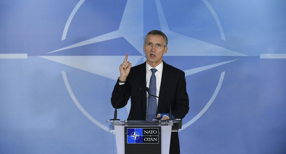 NATO Secretary General Jens Stoltenberg speaks during a press conference before a Foreign Affairs meeting at the NATO headquarters in Brussels on December 01, 2015