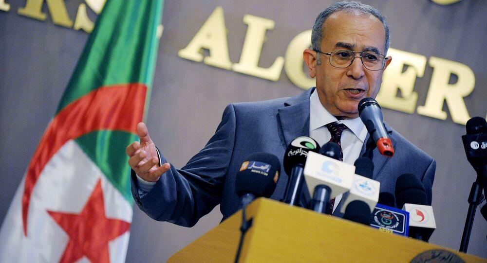 Algeria's foreign Minister Ramtane Lamamra