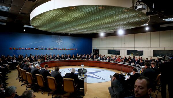 NATO foreign ministers gather for the session to formally admit Montenegro during ministerial meetings at NATO Headquarters in Brussels December 2, 2015 - Sputnik International
