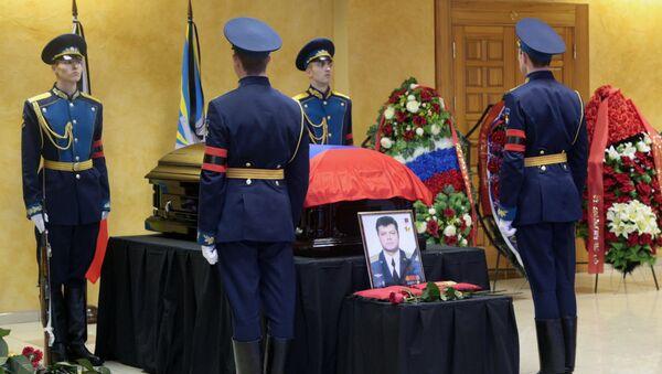 Funeral of pilot Oleg Peshkov killed in Syria - Sputnik International