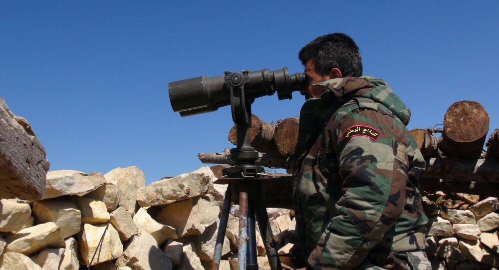 A Syrian army soldier near Latakia