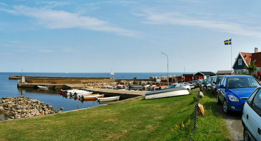 Skillinge harbor. Sweden