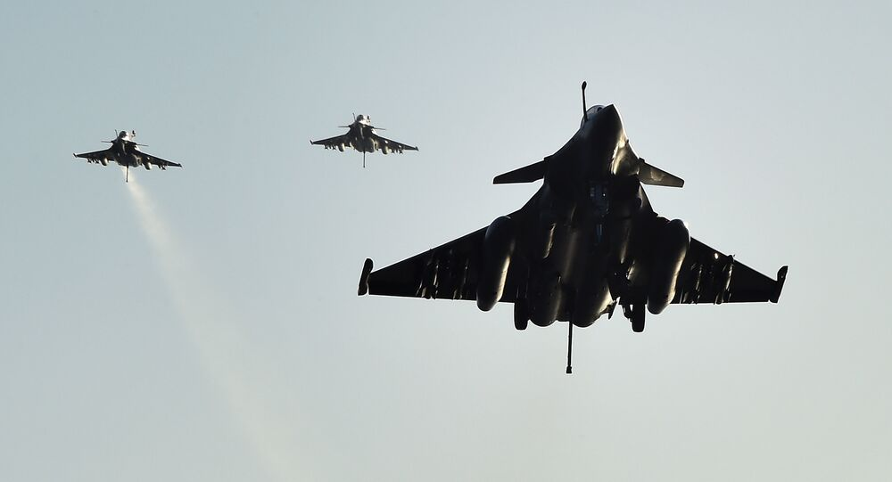 French Rafale fighter aircrafts.