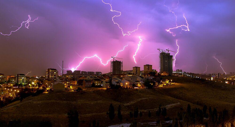 Thunderstorm. Ankara