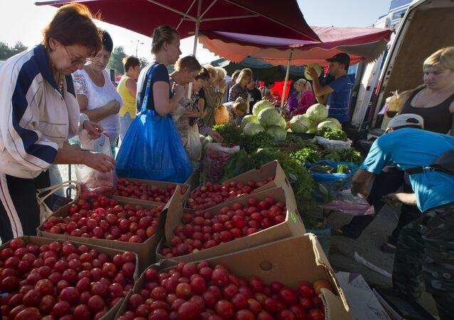 Fall agricultural fair in Simferopol