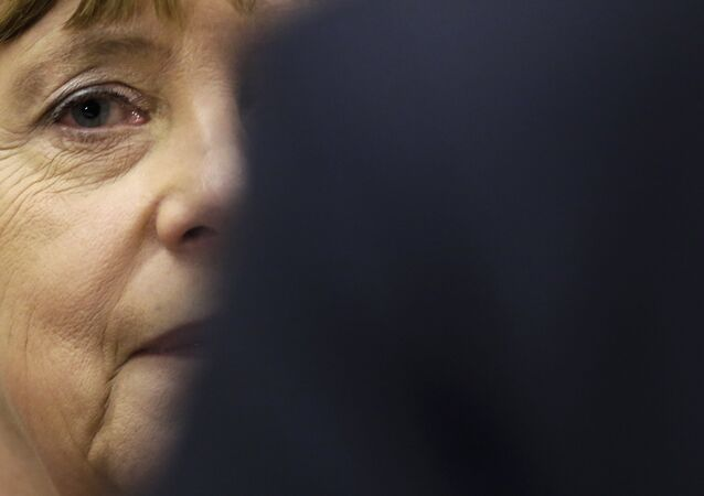 German Chancellor Angela Merkel arrives to a special faction meeting of the Christian Union parties at the Reichstag building in Berlin, Thursday, Nov. 26, 2015.
