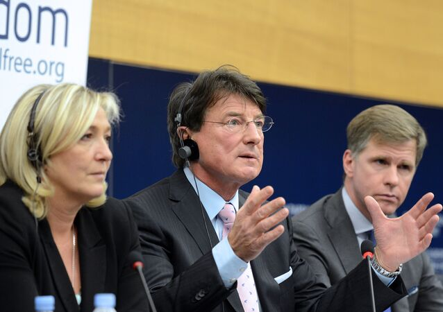 Austria's Franz Obermayr (C), member of Austrian Freedom Party. File photo