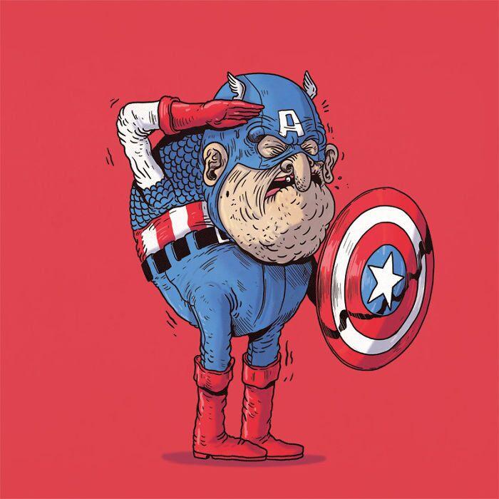 What if Superheroes Aged Like Everyone Else?
