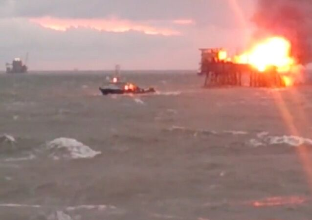 At least 19 people were evacuated from a burning platform in an oil and gas field in the Caspian Sea, the State Oil Company of Azerbaijan Republic (SOCAR) said on Saturday