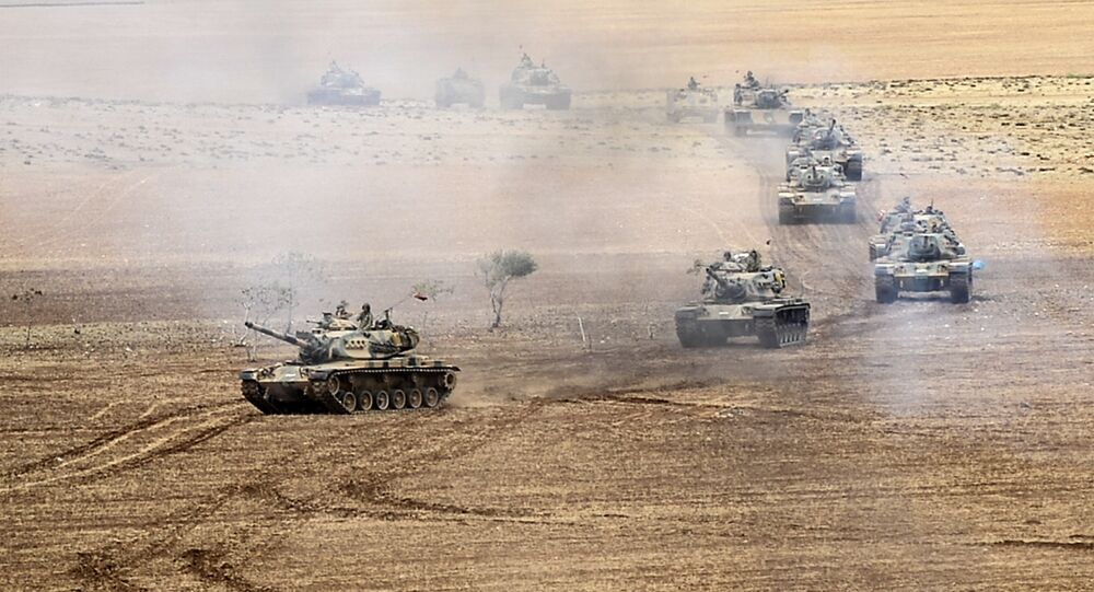 Turkish army tanks. File photo