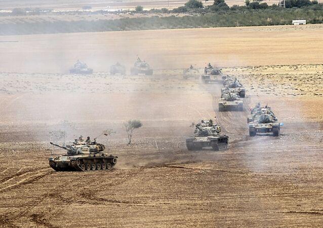 Turkish army tanks. File photo