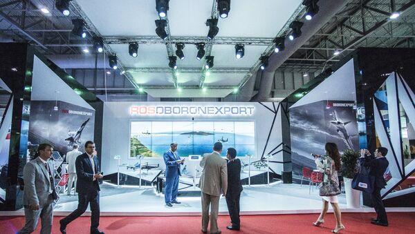 Rosoboronexport stand at the 2015 Dubai Airshow international exhibition - Sputnik International