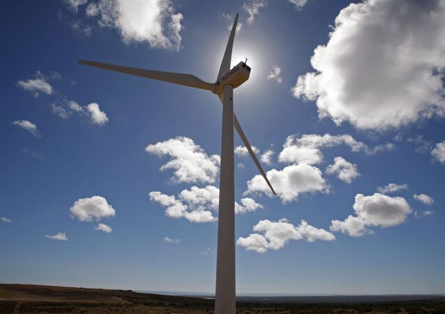 Wind turbines are used to generate electricity near the small town of Darling situated on the outskirts of Cape Town, South Africa