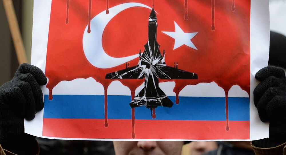 Protests in Moscow against Turkish Air Forces' actions